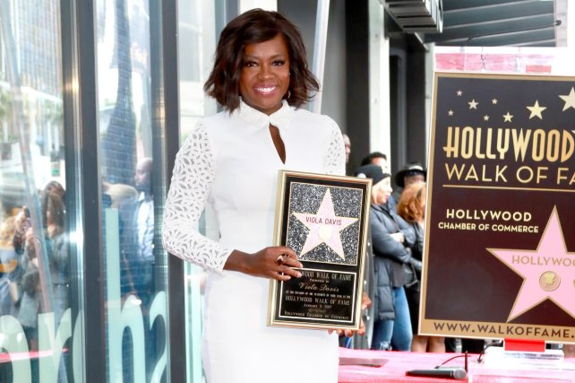 Viola Davis Walk Of Fame Ceremony